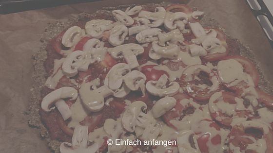 Rohkost Pizza glutenfrei roh vegan