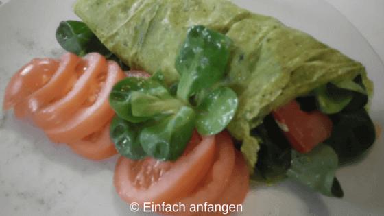 Salat Wrap Einfach anfangen