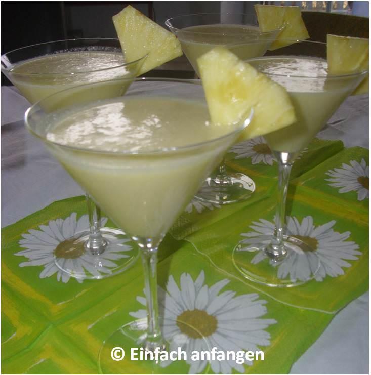Rezept roh veganer Pina Colada Einfach anfangen